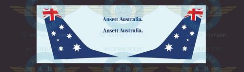 1/144 Scale Decal Ansett Australia 737-300 SOUTHERN CROSS With Lifelike Cockpit & Windows