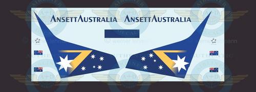 1/144 Scale Decal Ansett Australia 737-300 AUSSIE FLAG With Lifelike Cockpit & Windows