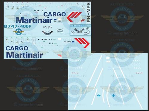 1/144 Scale Decal Martinair Cargo 747-400F With Lifelike Cockpit &  Windows