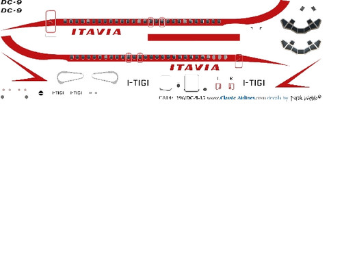 1/72 Scale Decal Itavia DC9-15