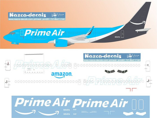 1/144 Scale Decal Prime Air 737-800 BCF