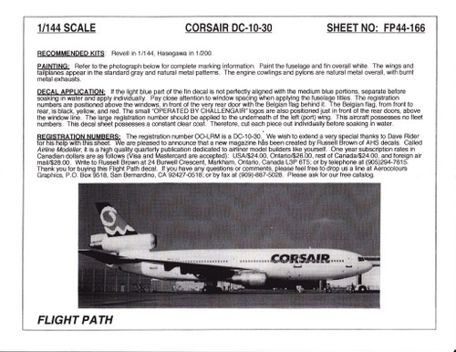 1/144 Scale Decal Corsair DC10-30