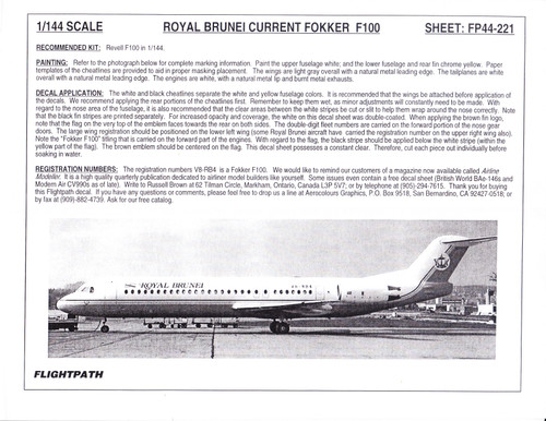 1/144 Scale Decal Royal Brunei F-100