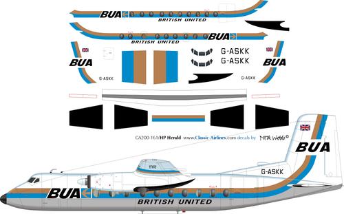 1/200 Scale Decal BUA - British United Herald