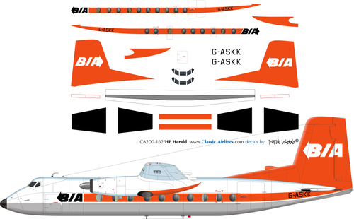 1/200 Scale Decal BIA Herald