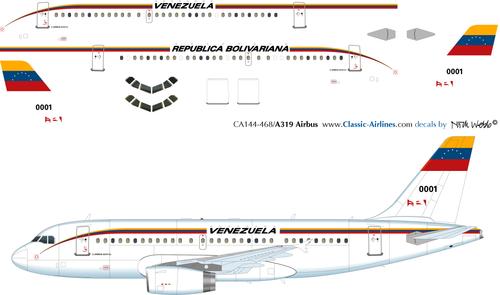 1/200 Scale Decal FAV - Republica Bolivariana A-319