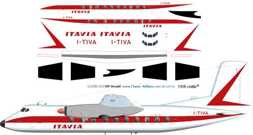 1/200 Scale Decal Itavia Herald
