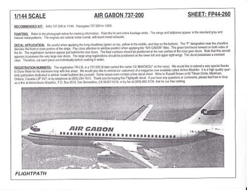 1/144 Scale Decal Air Gabon 737-200