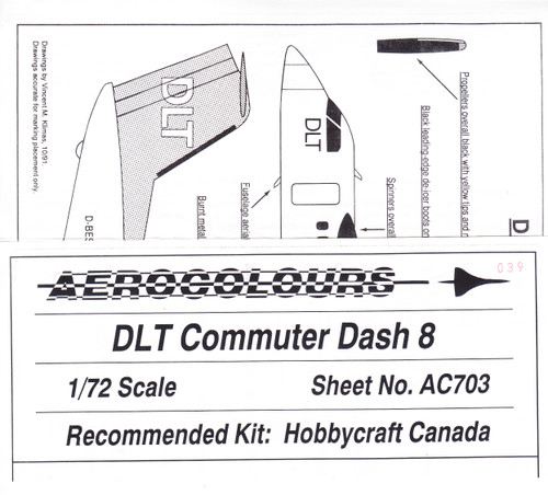 1/72 Scale Decal DLT Commuter Dash 8
