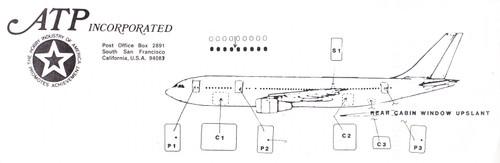 1/200 Scale Decal Windows Doors & Cockpit A-300B
