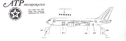 1/200 Scale Decal Windows Doors & Cockpit 767-200