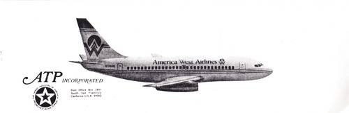 1/200 Scale Decal America West 737-200