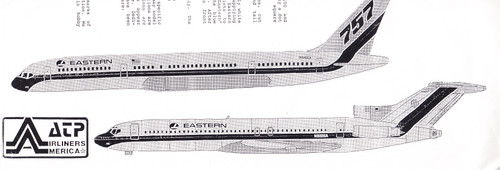1/200 Scale Decal Eastern 727-100/200 / 757-200