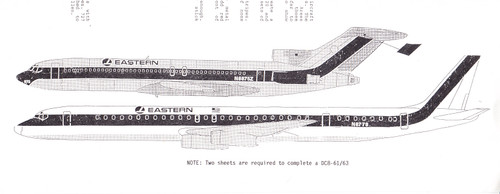 1/200 Scale Decal Eastern 727 / DC-8