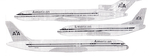 1/200 Scale Decal American 707 / 720 / 727 / 737 / 757