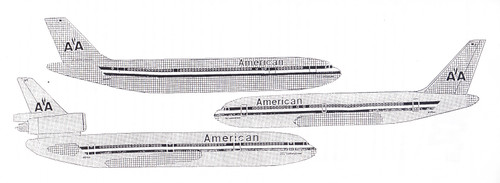 1/200 Scale Decal American 767-200 / A-300 / DC10-30