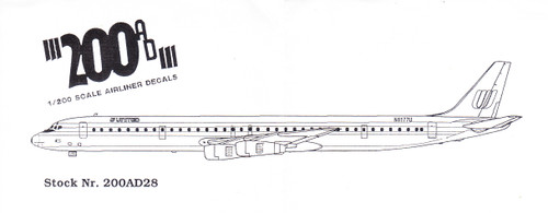 1/200 Scale Decal United DC-8