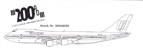 1/200 Scale Decal United 747-100 / 200 / 400 / SP