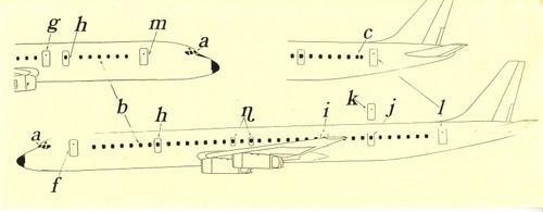 1/144 Scale Decals DC-8 Cockpit / Doors & Windows