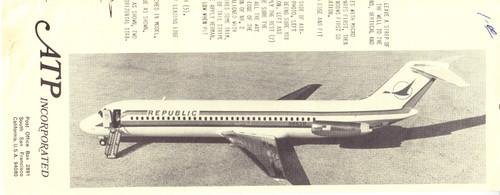 1/144 Scale Decal Republic DC9-30