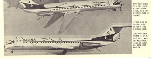 1/144 Scale Decal Ozark DC9-30