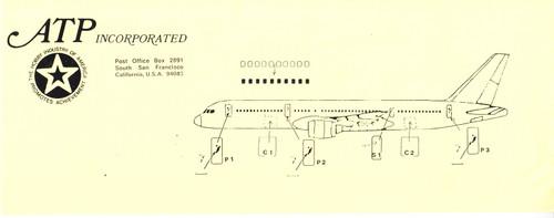 1/144 Scale Decal Cockpit / Windows / Doors 757-200