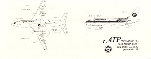1/144 Scale Decal Frontier 737-200 RED
