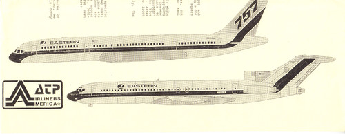1/144 Scale Decal Eastern 727-200 / 757-200