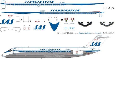 1/144 Scale Decal SAS DC9-30