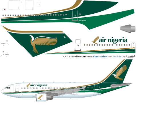 1/144 Scale Decal Air Nigeria A-310 (last)