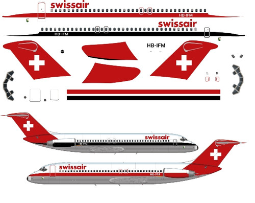 1/144 Scale Decal Swissair DC9-30 Experimental