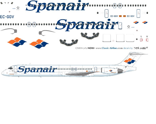 1/144 Scale Decal Spanair MD-80