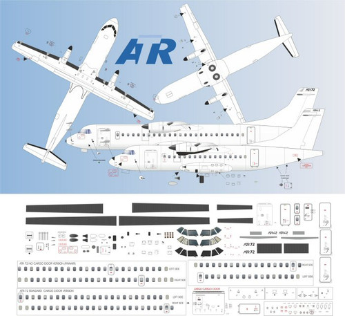 1/72 Scale Decal Detail Sheet ATR 42 / 72
