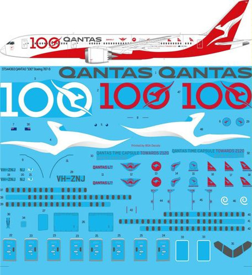 1/144 Scale Decal Qantas 787-9 Special 100th
