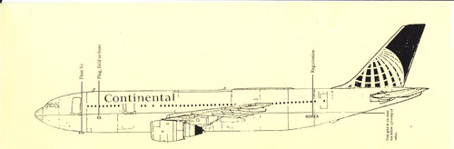 1/144 Scale Decal Continental A-300