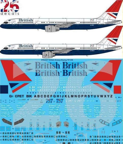 1/144 Scale Decal British Airways 757-200