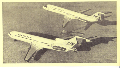 1/144 Scale Decal NorthEast / Delta 727-200 / DC9-30 Transition Livery