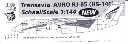 1/144 Scale Decal Transavia RJ-85 / BAe-146