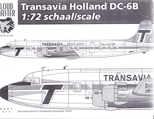 1/72 Scale Decal Transavia Holland DC-6B