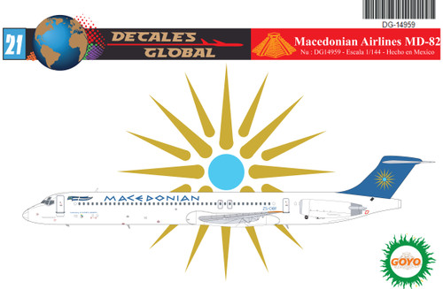 1/144 Scale Decal Macedonian Airlines MD-82