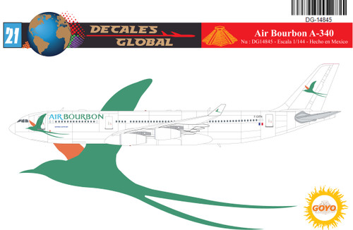 1/144 Scale Decal Air Bourbon A-340