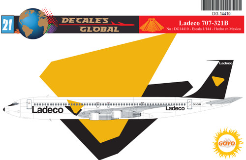 1/144 Scale Decal Ladeco 707-321B