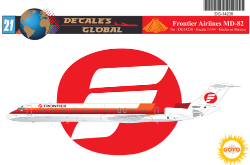 1/144 Scale Decal Frontier Airlines MD-82