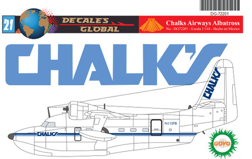 1/72 Scale Decal Chalks Airways Albatross