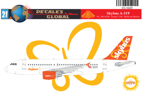 1/144 Scale Decal Skybus A-319