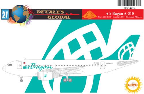 1/144 Scale Decal Air Bagan A-310