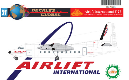 1/144 Scale Decal Airlift International F-27