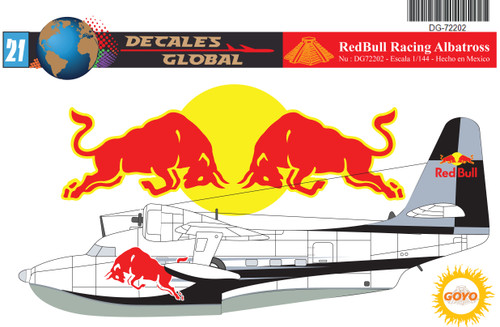 1/72 Scale Decal RedBull Racing Albatross