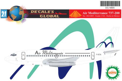 1/144 Scale Decal Air Mediterranee 737-200