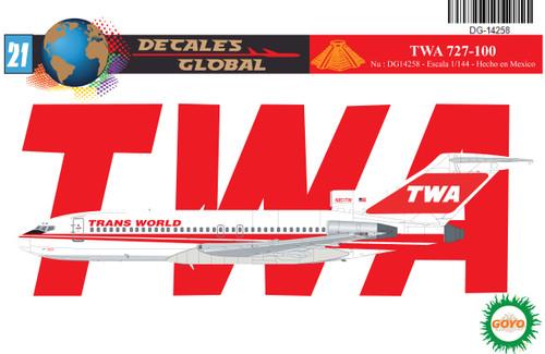1/144 Scale Decal TWA 727-100